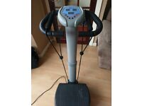 Vibration plate and excersise straps