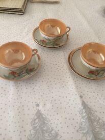 3 small tea cups