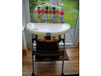 Chicco reclining high chair for sale £18