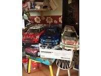 RC nitro 1/8 scale cars x3 all rtr vgc plus extra one for spares