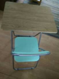 FOLD AWAY DESK AND CHAIR