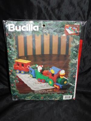 Bucilla Christmas Express Train Set NEW Felt Applique Kit Stuffed Decoration NIP