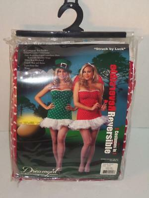 Dreamgirl Reversible Costume Cupid Leprechaun 3X 4X Adult Struck By Luck (Cupid Costume For Women)