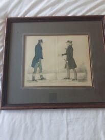 """2 Framed Prints - """"Modern Aethenians"""" - Solid Wood Frames"""