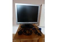 "HANNS G 17"" LCD MONITOR HC174D - VGA & DVI PORT - BLACK & SILVER"
