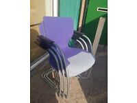 Orangebox office stacking chairs , office meeting room chairs , visitor chairs