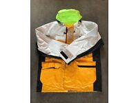Musto Wet/Foul Weather Sailing Jacket & Trousers/Sallopettes - Large - Excellent Condition