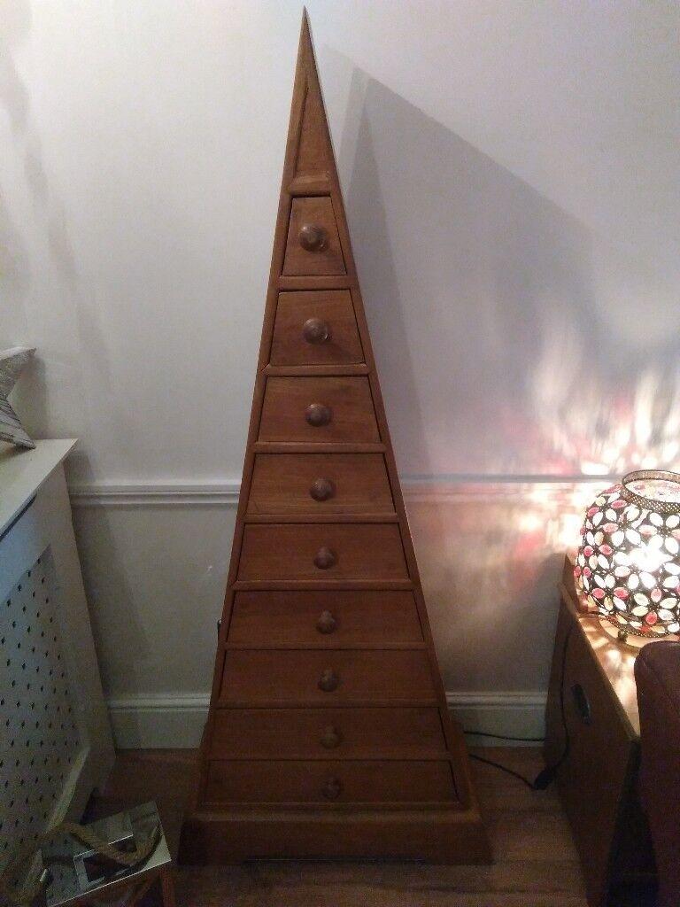 Pyramid style spice drawer unit..