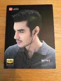 UiiSii T8 Stereo Earphones with Dual Dynamic Drivers, Superior Sound Headphones