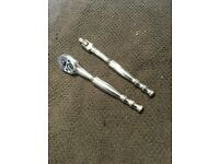 Snap on Bluepoint 1/4 ratchet and breaker bar very high quality
