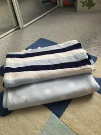 Set of 2 boys baby blankets