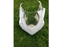 GSXR 1000 k7 k8 fibreglass fairings with air intakes and screen.