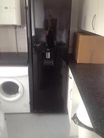 Black floor standing fridge