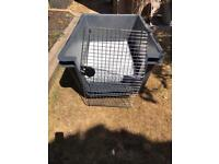 XL dog crate, cage flight box in good used condition