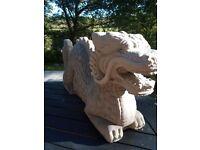 NEW Dragon Handmade Concrete Garden Statue