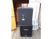 PEAVEY EUROSYS 500XT BASS BINS FOR SALE. BARELY USED. Passive speakers. Ideal for DJs and Bands.