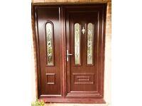 uPVC Door & Windows Rosewood/White