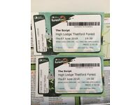 The Script, Thetford Forest 2 x tickets