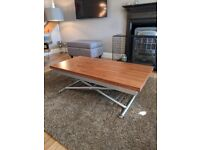 Adjustable Dwell coffee table/dining table