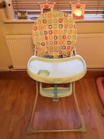 Highchair and baby walker