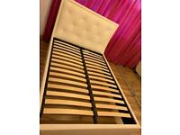 Off white double bed frame ONLY