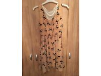 Beautiful ladies dress with deer pattern in mint condition