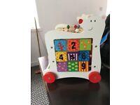 Bear Toddler Walker & Toy Box