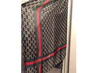 Louis Vuitton shawl black red green
