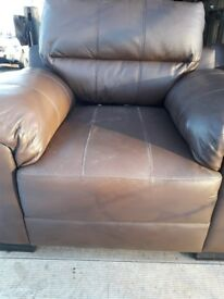 Two Single Leather Armchairs