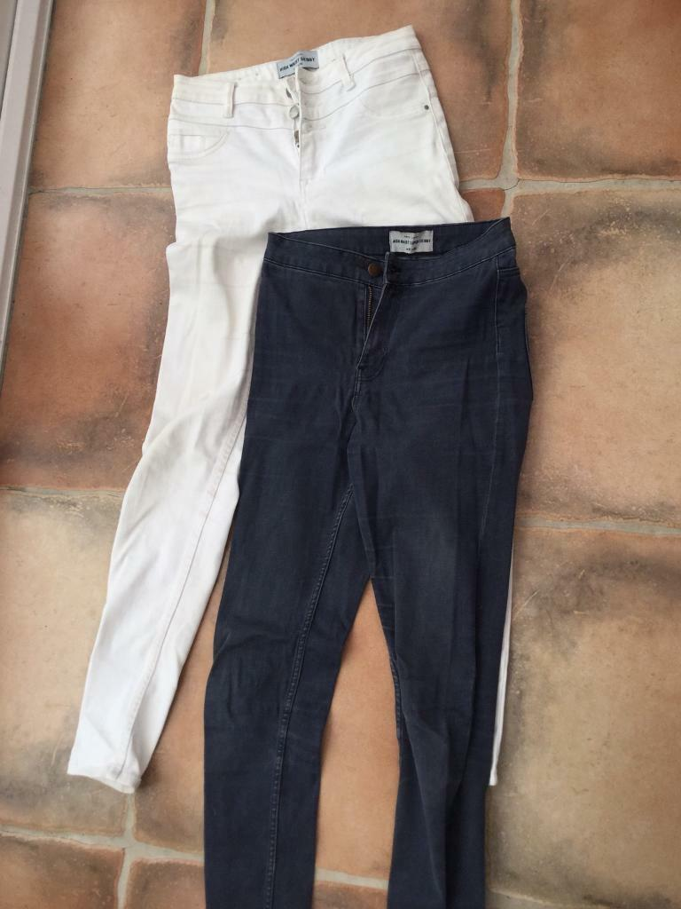 bb78e9726e1 New Look high waisted Jeans. Blue size 10 & white size 8. Will sell  separately. VGC. Can post . | in Torquay, Devon | Gumtree