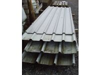 Box profile coated roofing sheets (standard width) only £1 per ft