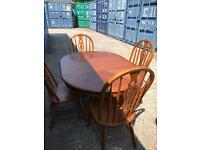 Extending dining table and chairs FREE DELIVERY PLYMOUTH AREA SALE AGREED