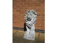 STUNNING PAIR OF CHARMING PROUD STONE LIONS