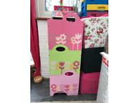 3 stackable toy boxes