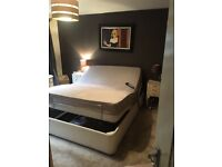 Electric double orthopaedic bed in good condition, mattress included.