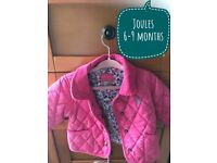 Pink baby girls jacket