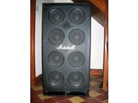 Marshall bass cabinet 8x10
