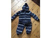 Soft fleece child's onesie