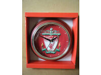 """""""LIVERPOOL F.C"""" Football Quartz clock. New and supplied with battery."""