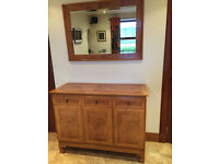 Dining Table & 6 Chairs, Sideboard & Mirror