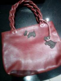 Radley small maroon leather handbag