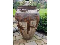 Stunning patterned terracotta pot £50. 69cm high x 44cm wide