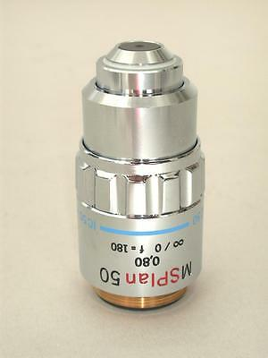 Olympus Ms Plan 50x Microscope Objective Very Nice