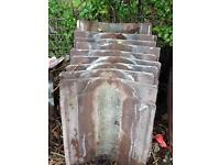 concrete valley roof tiles , 10 in total . width 410mm length 460mm £20