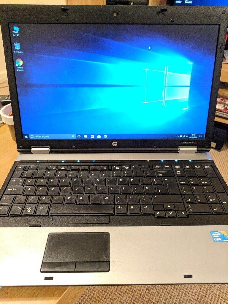 Windows 10 Pro HP ProBook 6550b Laptop i5 4GB RAM Fingerprint   in Milton  Keynes, Buckinghamshire   Gumtree