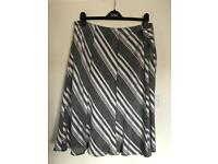Marks and Spencer's grey and white skirt size 20