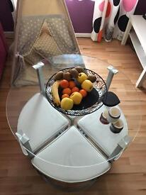 Dining table and chairs (space saving) £70