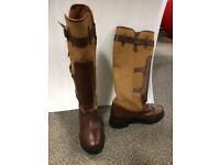 Kinpurnie Newtyle Long Boots- brown and tan
