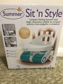 Summer Infant Sit n' Style Booster Seat for sale. Like new.