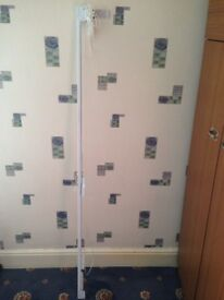 New Argos White Metal Extendable 160 To 229.5cm Curtain & Blind Pole With Fixtures & Fittings